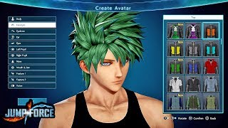 JUMP FORCE - NEW CHARACTER CREATION GAMEPLAY SCREENSHOTS! New CaC Custom Character Features!