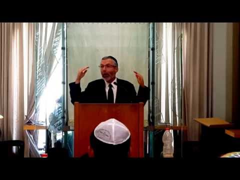 Rabbi Leib Keleman speaking at Aish HaTorah pt1