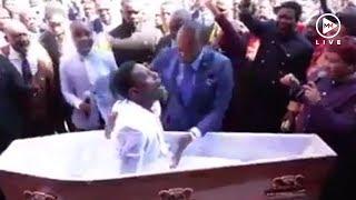 Mzansi shooketh after video of pastor bringing 'dead man' back to life goes viral