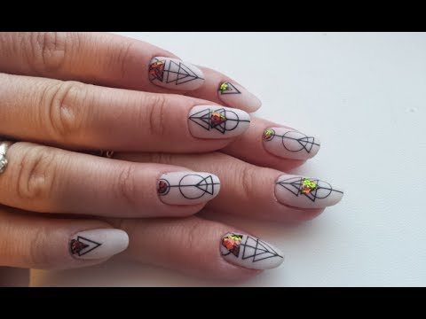 Наклейки на ногти геометрия