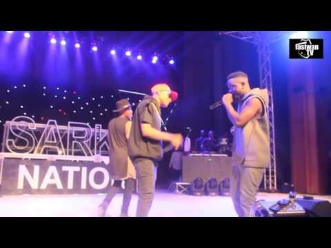 R2bees X WIZKID X SARK  performing Rapperholic concert.