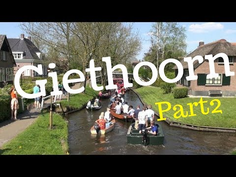 """Giethoorn, The Netherlands, """"Travel Tour"""" (Part2) Venice of The Netherlands, walking/cycling.. GoPro"""