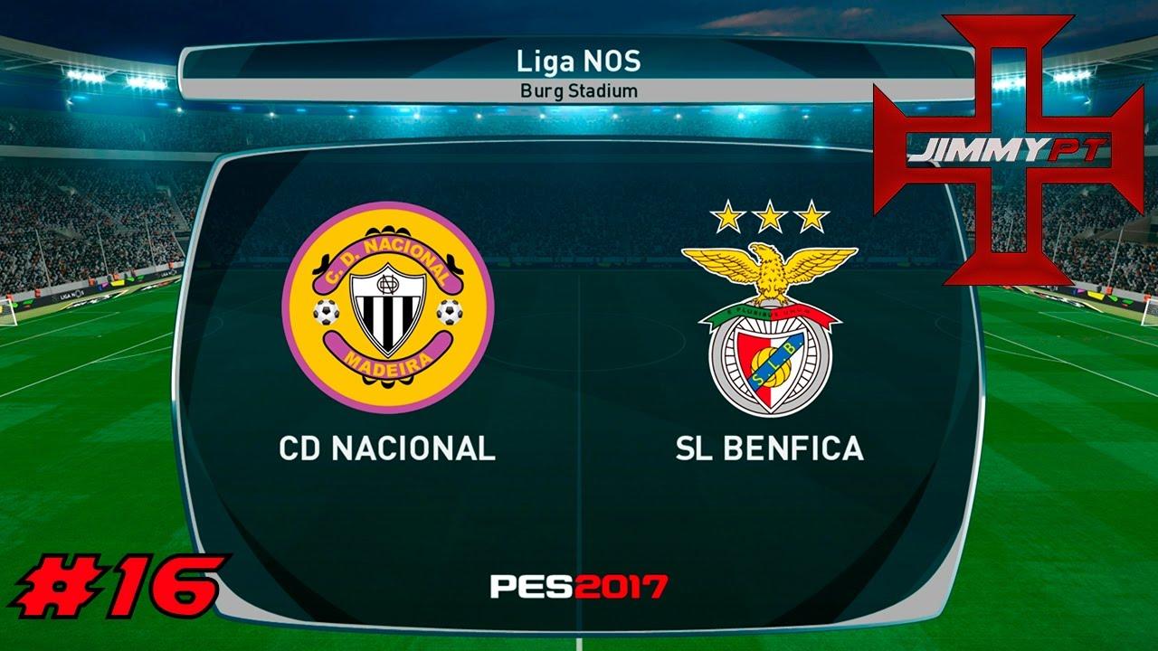 Benfica Vs Nacional: PES 2017 Liga Master #16 Liga NOS Nacional Vs Benfica