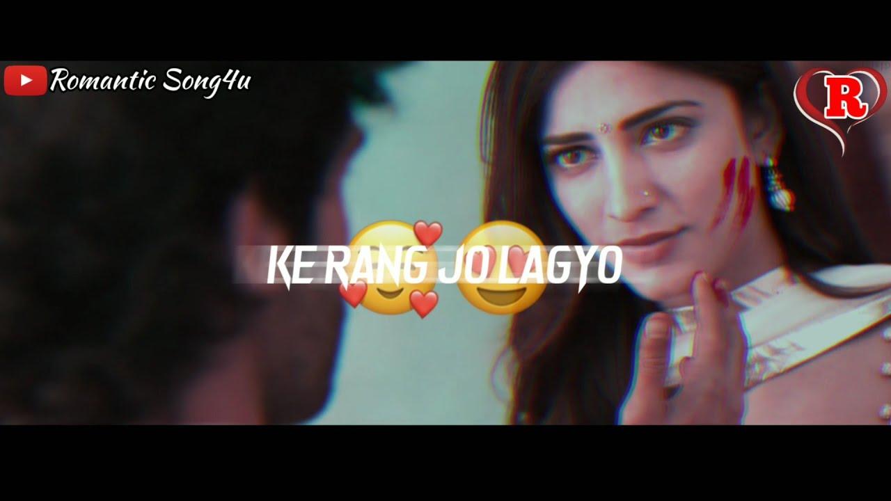 Rang Jo Lagyo Whatsapp Status Video 😍🧡✨ | STAY X Rang jo lagyo Mashup | Romantic Song4u 😘