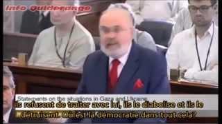 Le Sénateur Irlandais David Norris se lève contre Israël - Vost Fr