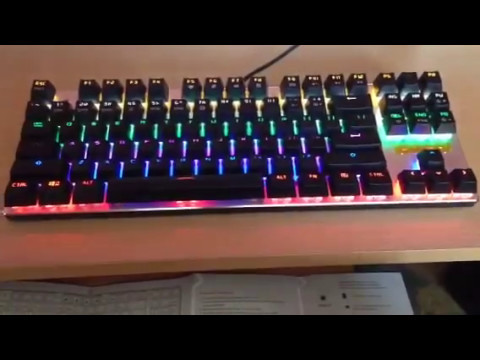 d7e7bea9d7f Hcman Mechanical Gaming Keyboard With Led Lights Review - YouTube