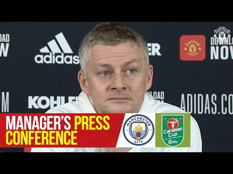 Team News | Manchester United v Manchester City | Carabao Cup | Manager's Press Conference