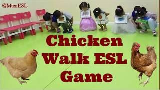 219 - Chicken Walk ESL Game| Fun Flashcards Game | Mux's ESL Games |