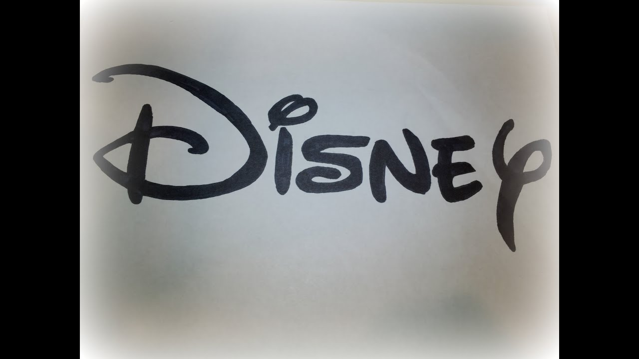 How To Draw The Disney Logo Logo Drawing Youtube
