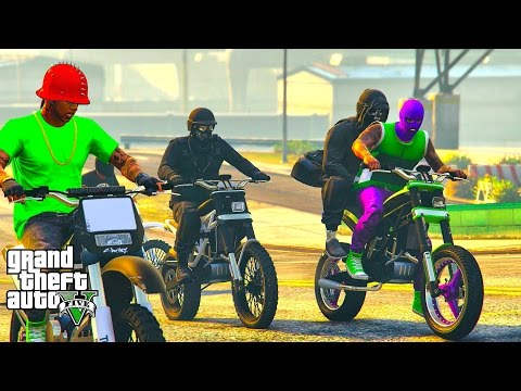 GTA 5 ONLINE - BIKER BOYZ N THE HOOD