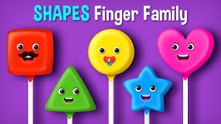 The Finger Family Shapes  Nursery Rhyme   Ice Cream and More Finger Family Songs Collection