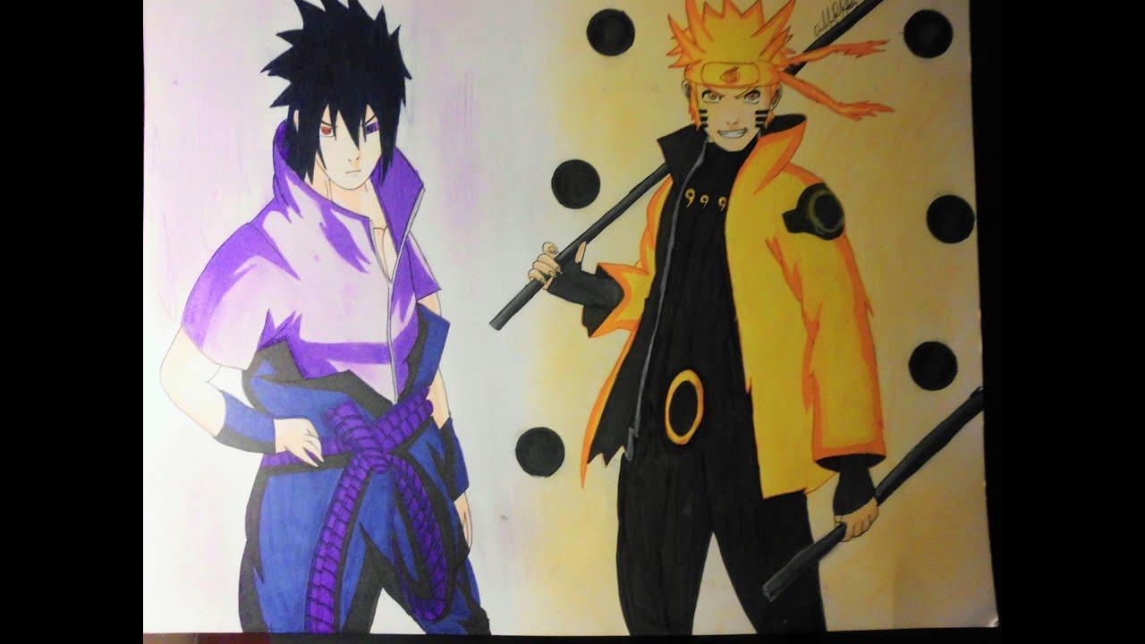 Naruto Modo Sabio De Los 6 Caminos Para Colorear: Como Dibujar A Naruto Y Sasuke En Modo Sabio De Los 6