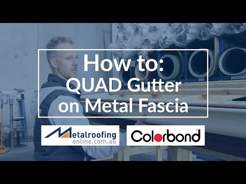 How to: Install Gutter onto Metal Fascia | Metal Roofing Online