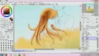 ItazuraNaKiss - (manga anime) Speed Paint (1/2) in SAI