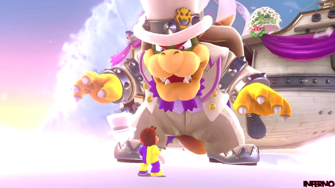 Super Mario Odyssey Part 5 Lost Kingdom Boss Bowser 1 Youtube