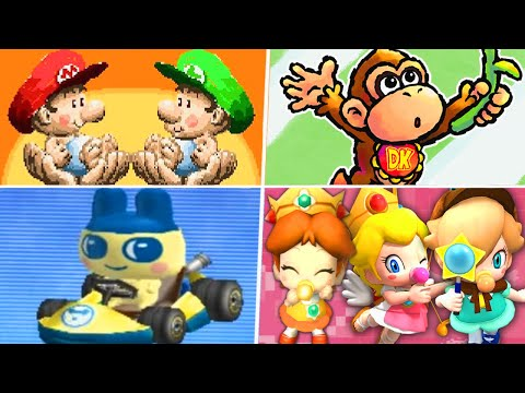 Evolution of Baby Characters in Super Mario Games (1992 - 2021) |