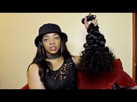 UGlam Wig Hair INITIAL REVIEW & BURN TEST 3 Bundles + Closure