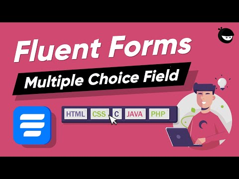 Add Multiple Choice Input Field in WordPress| WP Fluent Forms