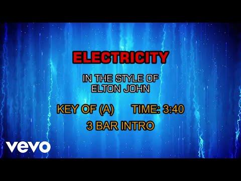 Elton John - Electricity (Karaoke)
