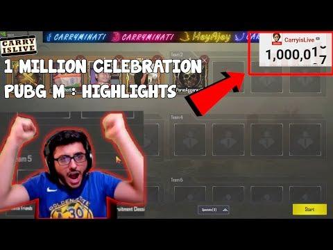 TIME WE HIT 1 MILLION LIVE! | CARRYMINATI PUBGM