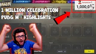 TIME WE HIT 1 MILLION LIVE! | CARRYMINATI PUBGM