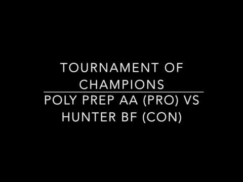Poly Prep AA vs Hunter BF TOC 2016 Round 4