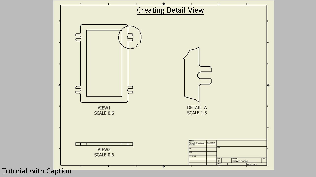 Create detail view in drawing sheet autodesk inventor for How to make creative drawings