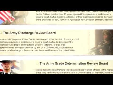 Army Launches Discharge Review Webpage