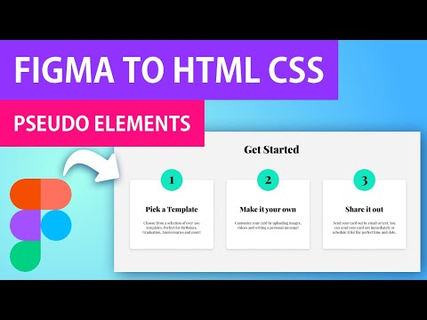 Figma To HTML CSS | Responsive Get Started Page With Pseudo Elements