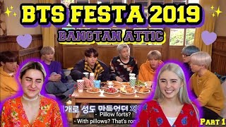 [2019 FESTA] BTS (방탄소년단) '방탄다락' #2019BTSFESTA REACTION | BTS FESTA 2019 REACTION |  PART 1/2