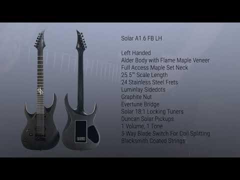 SOLAR Guitars A1.6 FB Left Handed