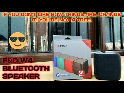 UNBOXING OF F&D W4 BLUETOOTH SPEAKER(BEST SPEAKER FOR RS 1000)