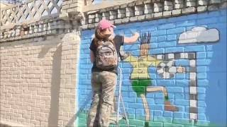 VLOG Проект СтадиON Рисую на заборе Мой стритарт Футболист(В этом видео я рисую на заборе стадиона им. Гагарина в г.Чернигов. Это видео из моей жизни. В мае 2016 года я..., 2016-07-10T07:53:27.000Z)