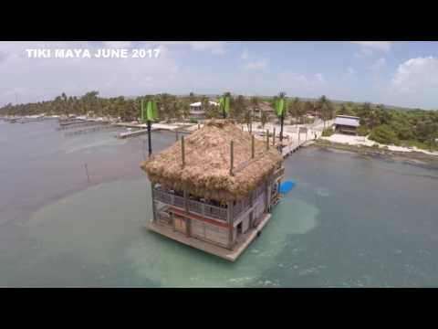 Tiki Maya Bar, Wind Turbines, San Pedro, Belize