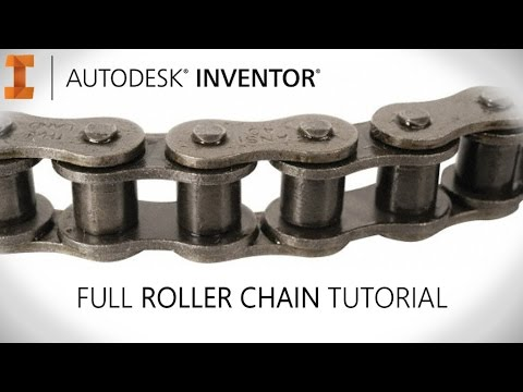 Full 3D chain tutorial with real time movement | Autodesk Inventor