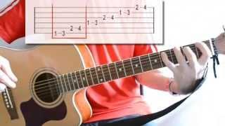 Гитара: упражнение для пальцев левой руки-5