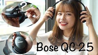 Bose làm tai nghe chống ồn như thế nào ?   Bose QC 25 chống ồn chủ động Acoustic Noise Cancelling
