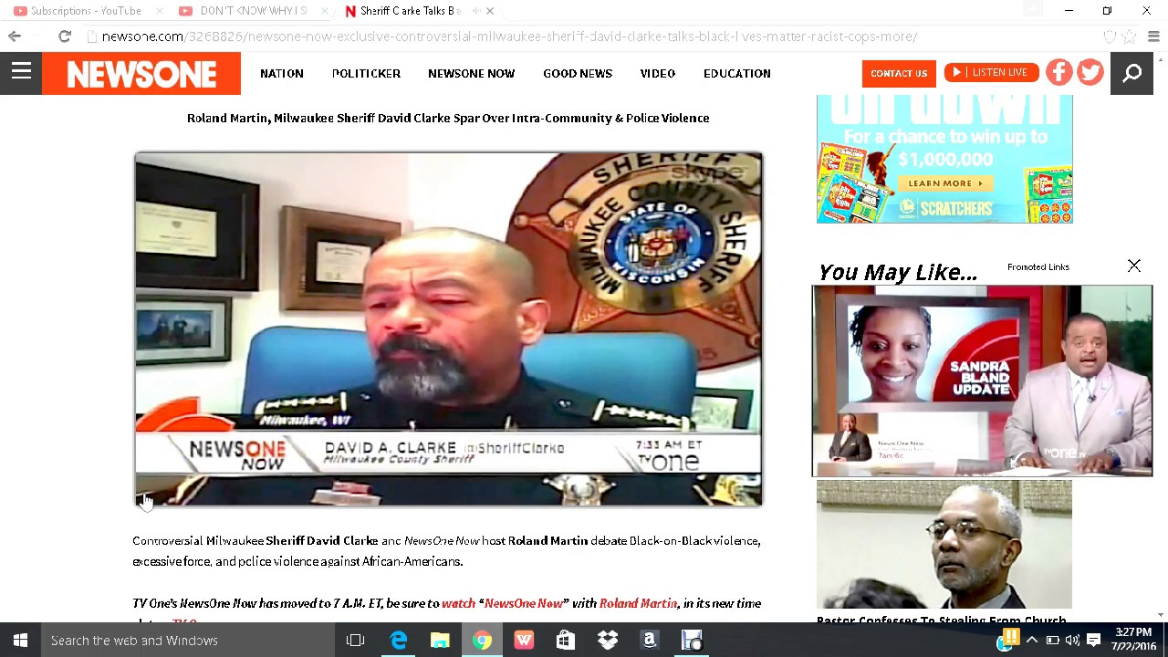 SHERIFF DAVID CLARKE & ROLAND MARTIN PART 2