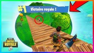 OMG FAIRE TOP 1 A LA PIOCHE AVEC LA PLUS PETITE ZONE sur Fortnite Battle Royale (Funny Moments) !