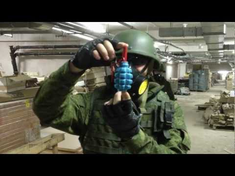 Cмотреть видео онлайн Страйкбольная граната F-1S от RAG. СК