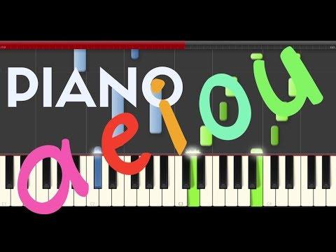 Ronda De Las Vocales Canticuentos Piano Midi Tutorial Sheet App Cover Karaoke