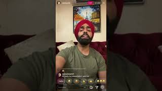 Ammy Virk | Main suneya | Ammy Virk Live On Instagram
