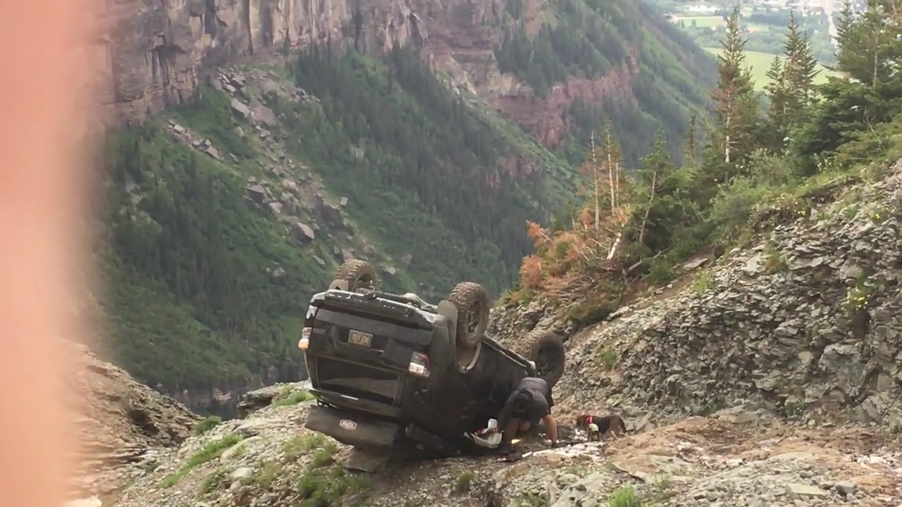 Black Bear Pass Colorado >> Toyota 4Runner rollover on Black Bear Pass, Telluride ...