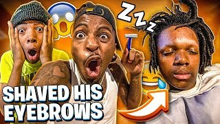 WE FINALLY GOT DEDE3X & WAXED HIS EYEBROWS OFF!