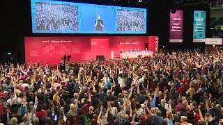 Chaos as Labour Party delegates vote to reject Remain