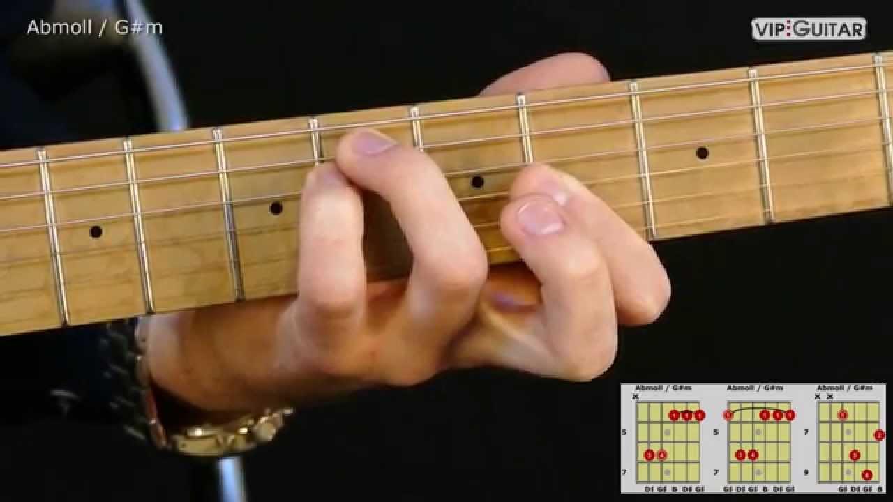 Gitarrenakkorde Abmoll Gmoll Abm Gm Chord Youtube