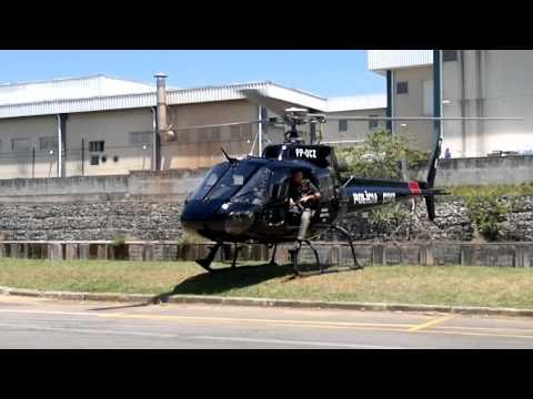 Helicoptero Pelicano Policia Civil SP Decolando