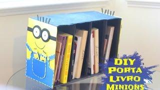 Diy - Porta Livros Feito Com Caixa De Sapato
