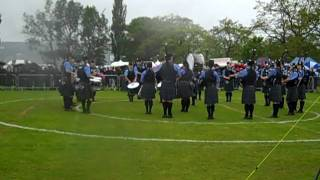 Dumfries and Galloway Constabulary Pipe Band competing at the Scottish Pipe Band Championships 2011