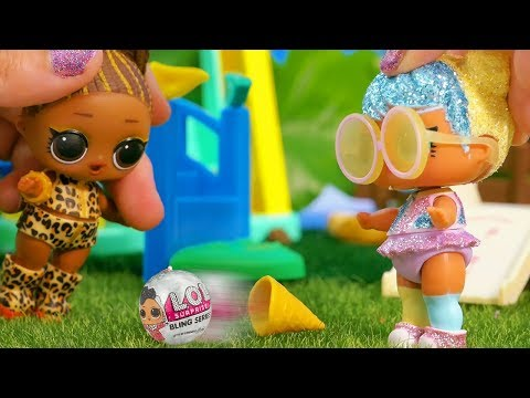 LOL Surprise Dolls Carnival In The Park With A Ferris Wheel, Ice Cream And Unboxings!